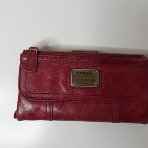 Fossil Vintage Red Wallet